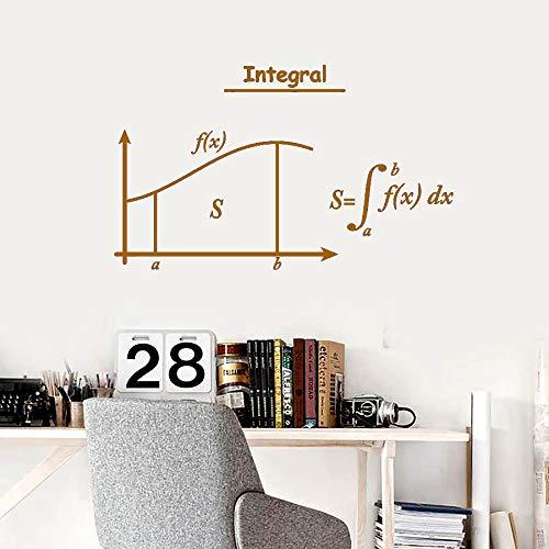 Integral Mathematik Wandtattoo Symbole Mathematik Schule Klassenzimmer Innendekoration Vinyl Fenster Aufkleber Student Arbeitszimmer Wandbild 57 * 93cm L