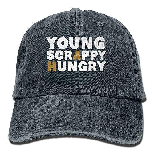 AASPOZ Young Scrappy Hungry Denim Adjustable Unisex Fitted Baseball -