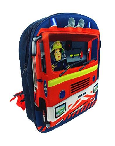 Image of Fireman Sam Children's Backpack, 8 Liters, Blue SAM001034