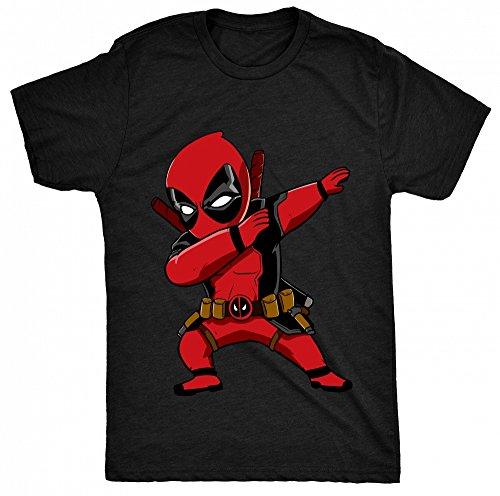 8TN Dabbing Dead Fan Pool Funny Dab Unisex - Kinder T Shirt - Schwarz - 7-8 Jahre