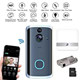 Pawaca Video Doorbell, Wireless Video Doorbell,Real-Time Two-Way Talk and Video, Night Vision, PIR