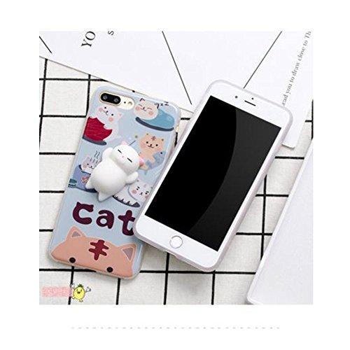 Miminuo 3D Squishy Cat iPhone case, impastatrice morbido silicone finger Pinch cute telefono cellulare copertura protettiva per iPhone6/6s/6plus/6SPlus/6plus/7PLUS (per iPhone 7/6s Plus)