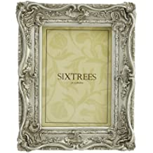 Cornici per foto shabby chic 150x100mm e 250x200mm - Chelsea, da Sixtrees - 18 x 12cm, Argento