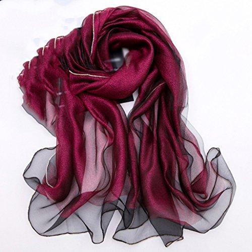 serviette de plage Mulberry Silk Ladies Side Of The Long Paragraph Scarf Shawl Écharpe sauvage ( Couleur : #2 ) #3