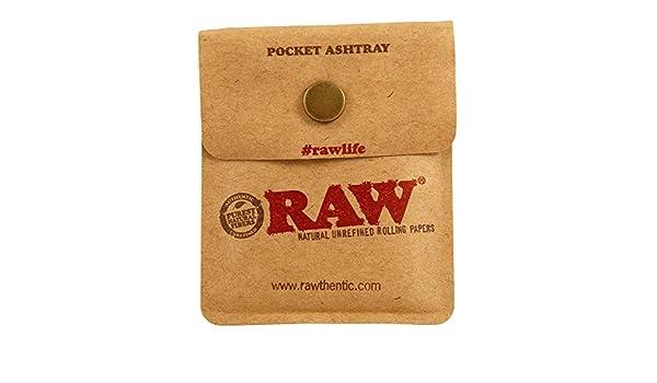 RAW Pocket Ashtray Taschenaschenbecher f/ür Unterwegs 10 Pocket Ashtrays 1 Box