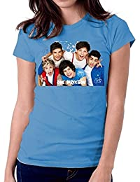 LetsFlaunt Signature One Direction T-shirt Women Blue Dry-Fit Nw