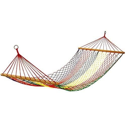 ICTYPM Hamac Hamac Extérieur, Chaise en Nylon De Berceau De Corde De Maille, Camping Facile À Porter, 200 * 80cm Voyage, Plage, Jardin, Camping, Cour arrière, en p
