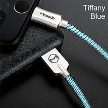 Cavo Lightning mcdodo Premium Iphone Lightning a USB–, Apple MFi certificato–1.8metri. garanzia. Cavo IPAD–iPhone 8/8Plus/7/7Plus/6S/6S Plus/6, iPad Pro/Air, iOs 11/10 blu blu