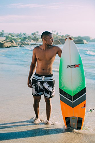GUGGEN MOUNTAIN Herren Badeshorts Beachshorts Boardshorts Badehose *High Quality Print* Grau