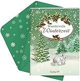 Wundervolle Winterzeit: Weihnachtsbroschur mit Kuvert