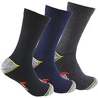 Calcetines de TRABAJO (3 pares) con talón y puntera reforzados, ideal para usar con calzado de trabajo. Idóneos para senderismo, pesca, trekking, etc. NO SUELTAN PELUSAS