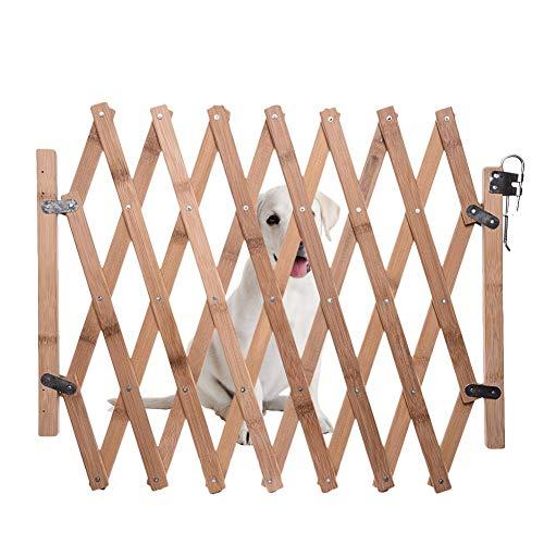 ramonde Massivholz-Sperrgitter Haustiertor Holz-Sperrgitter, skalierbar/umschaltbar, Schutzgitter aus Naturholz -