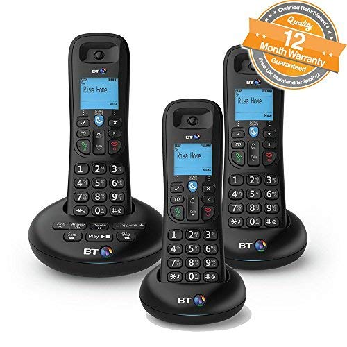 BT 3570 Trio Digital Cordless Answerphone With Nuisance Call Blocking (Certified Refurbished)