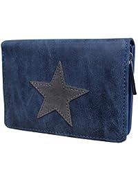1159ceeab3276 Damen Luxus Canvas Stern Geldbörse Geldbeutel Brieftasche Portemonnaie  Damenbörse Börse
