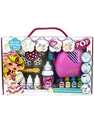 POP Geschenk: Nagellack-Design-Set + Nageltrockner + Sticker - für Kinder