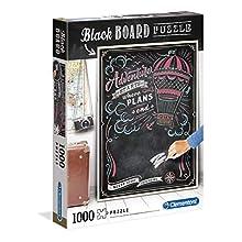 Clementoni- Blackboard Puzzle-Never Stop Exploring-1000 pièces- 39478