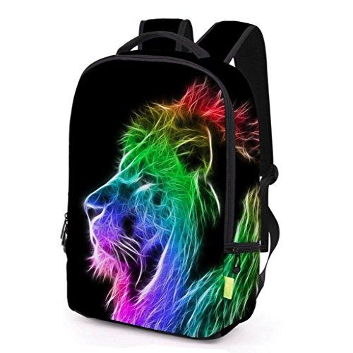 Resplend Unisex 3D Graffiti Drucken Reisetasche Rucksack Freizeit Backpacks schulrucksack Sport Beiläufig Reißverschluss Reiserucksack Schulter Bookbag (H)