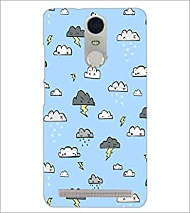 PrintDhaba Cloud Pattern D-1442 Back Case Cover for LENOVO K5 NOTE (Multi-Coloured)