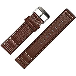 Tommy Hilfiger-Compatible Model Watch 1790684-Leather Bracelet Genuine Leather Watch Band 22mm Brown with Stainless Steel Buckle-Exclusive MARBURGER Original Spare Parts