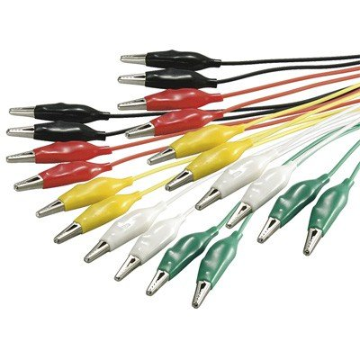 Wentronic Kit Cavi elettrici per Test Colorati, 10 pezzi, 5 colori