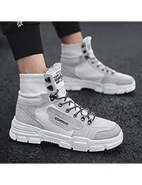 Lianaiec Botas de hombre Calzado De Invierno para Hombre Botas Martin Botas  para Hombre Ayuda Alta 9f48fc63244e3