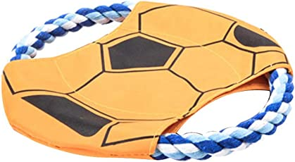 Dog Toy Pet Training Rope Flying Disc Outdoor Interactive Teething Chew Toys Toy Suitable for Small Medium Large Dogs(Random Color)