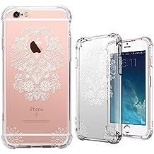 Funda iPhone 6 / 6S, MISS ARTS Crystal Clear Mandala Flor Cover Borde Suave + Duro Funda Carcasa Case para Apple iPhone 6S/6 -C3