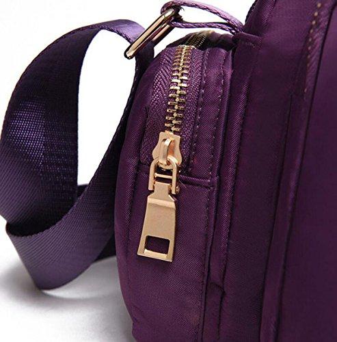 Multi-tasca Del Sacchetto Di Nylon Secchio Modo Semplice Femminile Spalla Portatile Panno Casuale Diagonale Red2