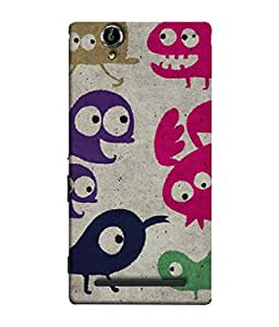 PrintVisa Designer Back Case Cover for Sony Xperia T2 Ultra :: Sony Xperia T2 Ultra Dual SIM D5322 :: Sony Xperia T2 Ultra XM50h (Colourful Traditional Image Of Cartoons Drawn)