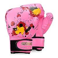 Decdeal Fighting Gloves for Boy/Girls Strike Boxing Training Safety Gloves for Kids Map Boxing Gloves
