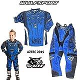WULFSPORT AZTEC MX Bambini Tuta Moto Pantaloni e Maglia Bambino Motocross Scooter ATV Quad Kart...