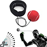 boxing reflex ball, Sannysis boxing ball barata ideal para practicar kickboxing quality adjustable boxing skipping speed gimnasia professional fitness equipment (Rojo)