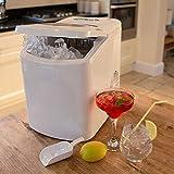 Wido Household White Counter Top Ice Maker Machine 700g Ice Basket