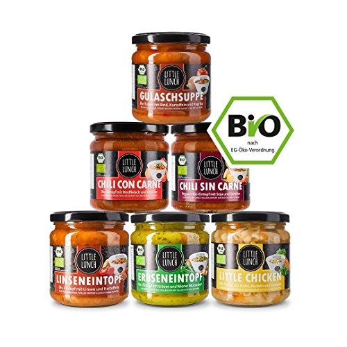 """Preisvergleich Produktbild Little Lunch Bio Suppen im Glas / """"Probierbox Eintöpfe"""" / 6 x 350ml / Ohne Geschmacksverstärker"""