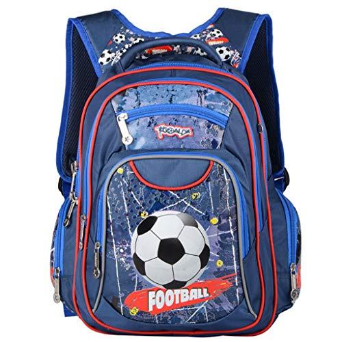 Mochilas Escolares Muchachos, Bolsas de Escuela Primaria niños Fútbol Impresión Bolsas de Hombro 14 Pulgadas Reflexivo Bolso
