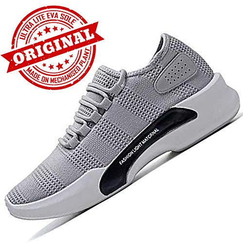 Ethics Perfect Ultra Lite Sport Shoes for Men (6 UK, L Gray)