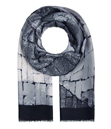 Majea Damen Schal XXL Tuch Neue Herbstkollektion Schals und Tücher mit Muster (schwarz 5)
