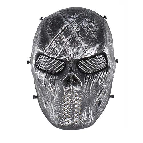 LHMASK Halloween Face Mask Und Head Hat Stück Modeschmuck Kostüm Häuptling Serie Skelett Horror Essen Die Augen Der Menschen Mehrere Farben,Black