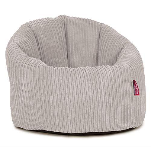 Lounge Pug®, Puff Silla 'Abrazo', Pana Clásica - Crema
