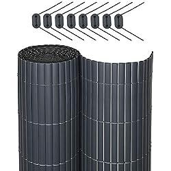 Sol Royal SolVision P78 - PVC Sichtschutz für Balkon & Terrasse 100 x 400 cm Anthrazit Sichtschutzzaun Sichtschutzmatte