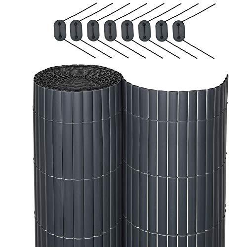 Sol Royal SolVision P78 - PVC Sichtschutz für Balkon & Terrasse 90 x 400 cm Anthrazit Sichtschutzzaun Sichtschutzmatte