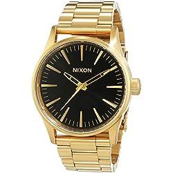 Nixon A4501604-00 - Reloj de Pulsera Mujer, Acero Inoxidable, Color Dorado
