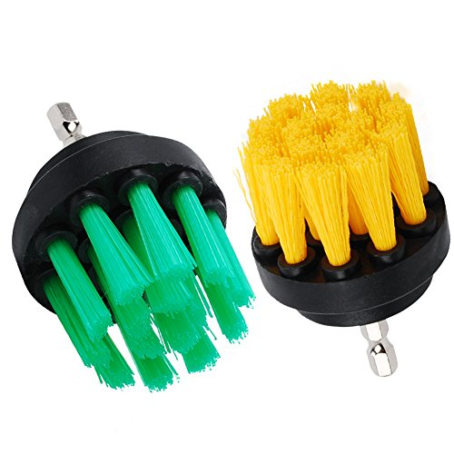 oxoxo taladro cepillo–2pulgadas Taladro eléctrico fijación Medium Heavy Duty de fregar Scrubber Cepillo de limpieza para baño superficies lechada duchas y más
