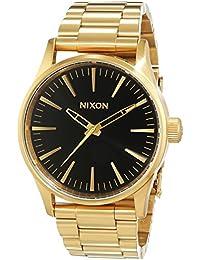 Nixon Damen-Armbanduhr Sentry 38 SS, Gold / Black Sunray Analog Quarz Edelstahl A4501604-00