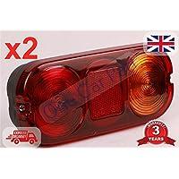 2 x JCB 3CX Piezas Luz trasera Unidad Completo 4CX Luz indicadora lateral + lente