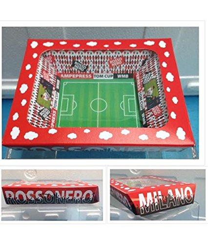Stock 20 pezzi stadio milan scatola in cartone portaconfetti bomboniera comunione cresima battesimo