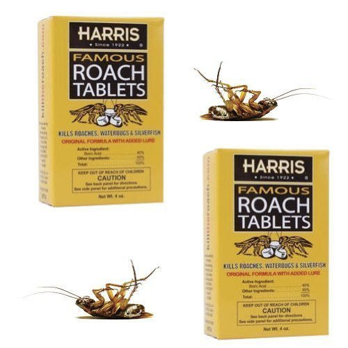 200-harris-roach-tablets-kills-roaches-spiders-ants-silverfish-set-of-2-by-harris
