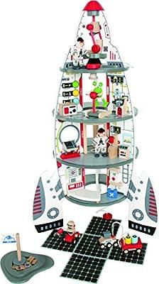Hape E3003 - Cohete y nave espacial con 2 astronautas y accesorios por Hape
