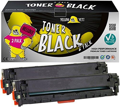 Yellow Yeti 2 Schwarz Premium Toner kompatibel für HP Laserjet Pro 200 MFP M276nw M276n M251nw M251n CP1525n CP1525nw CM1415fn CM1415fnw CM1312 CM1312nf CM1312nfi CP1215 CP1514n CP1515n CP1518ni