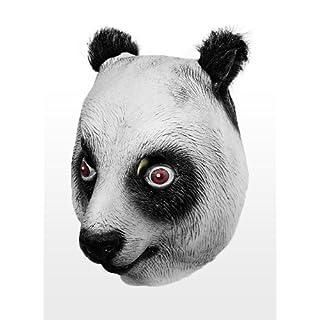 Panda Maske aus Latex mit Ohren aus Kunstfell